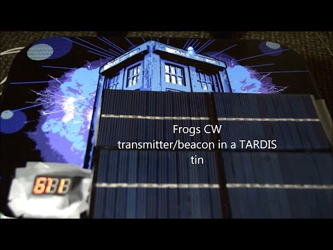 Frogs Morse QRP in a TARDIS tin