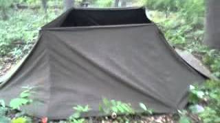 4 person pup tent configuration