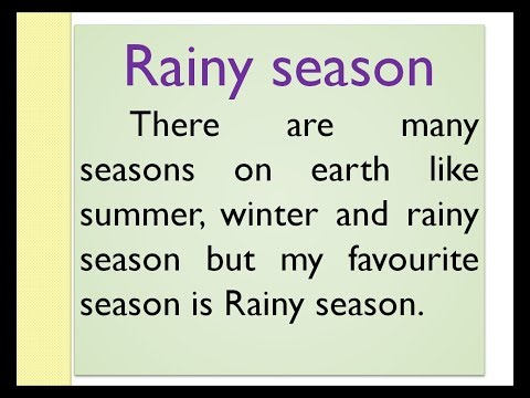 Rainy Season Essay In English By Smile Please World