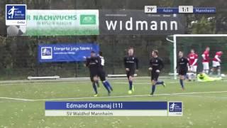 A-Junioren - VfR Aalen vs. SV Waldhof Mannheim 1:1 - Edmand Osmanaj