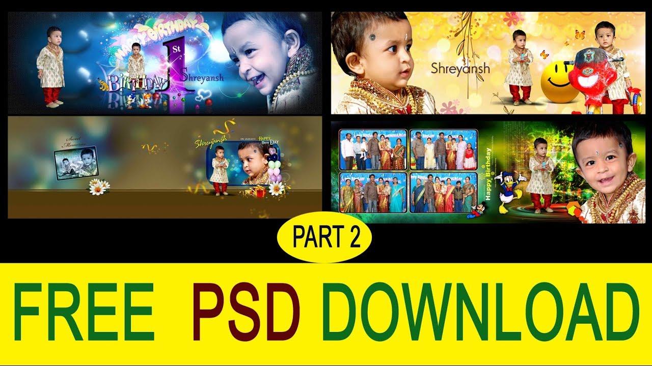Birthday photo album design templates psd free download