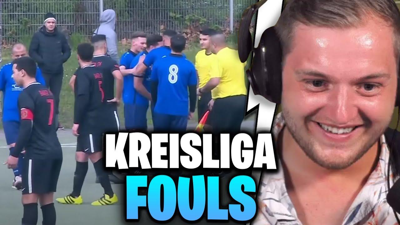 😂⚽REAKTION auf HARTE FOULS & ROTE KARTEN - Best of Kreisliga   Trymacs Stream Highlights