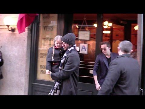 Victoria Beckham David Beckham and their kids lunch at Balthazar in New York