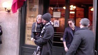 Victoria Beckham, David Beckham and their kids lunch at Balthazar in New York