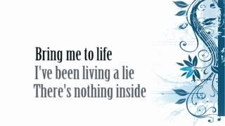 Evanescence - Bring Me to Life (lyrics video)