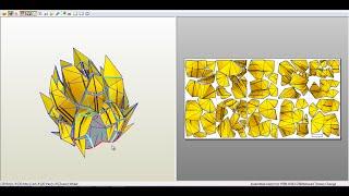 Descargar plantillas de SUPER SAIYAJIN fase 1 y 2 para papercraft.(Tamaño real)(Life Size)