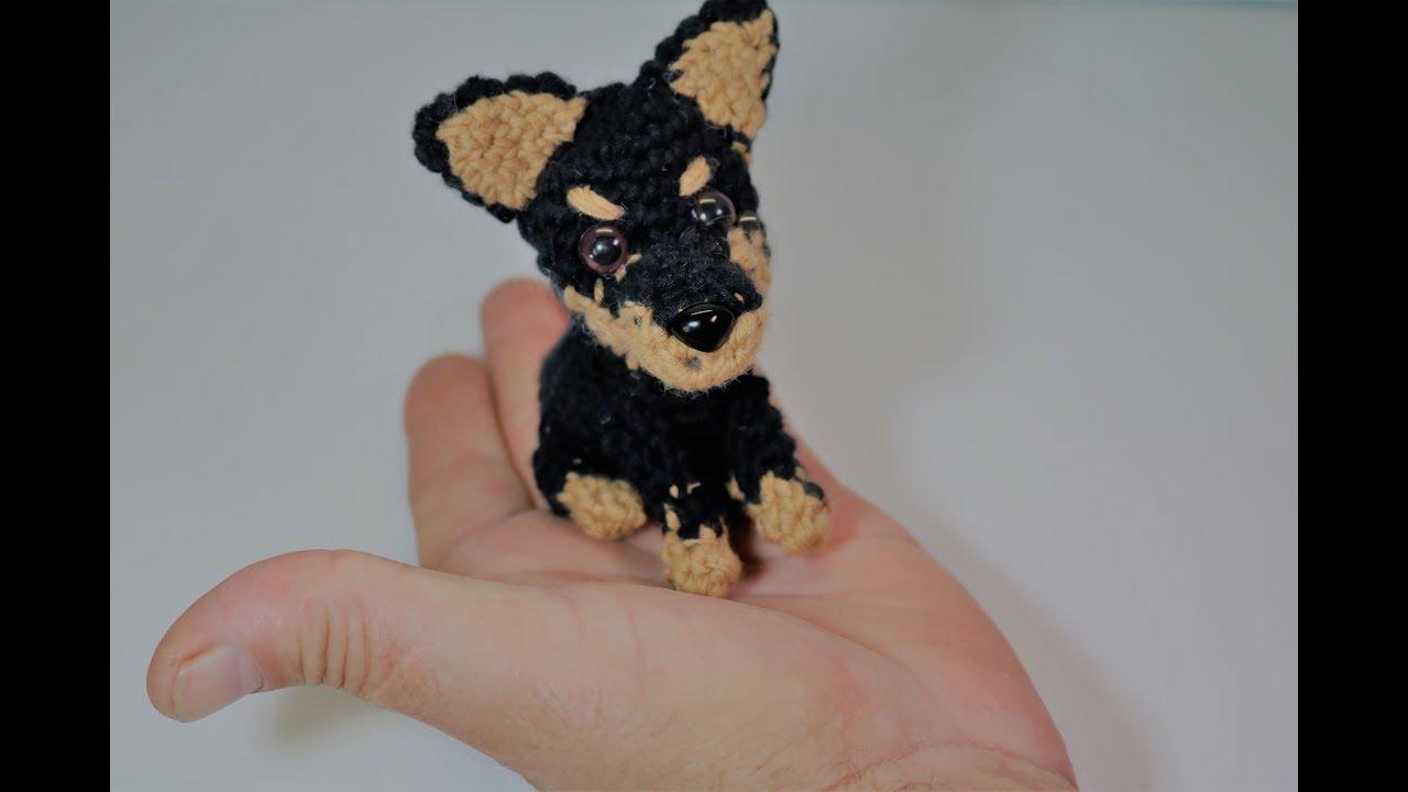 Patron perro Amigurumi, llavero, tutorial paso a paso - YouTube