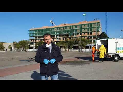 David Dorado explica el uso de drones para desinfectar la ciudad