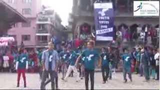 YI's Flash Mob with Cartoonz Crew at Patan Durbar Square October 30, 2013