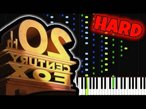 20th Century Fox INSANE Piano Tutorial SynthesiaSheet Music