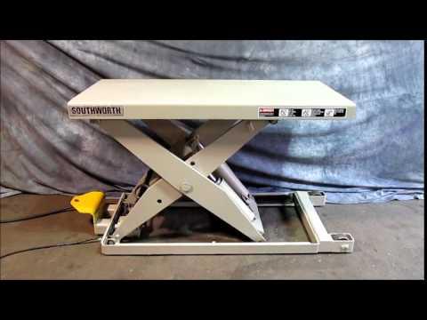 For Sale Southworth Hydraulic Scissor Lift Table 4 000 Lb