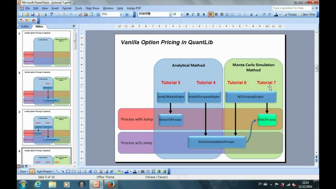 Introduction to QuantLib  Part 7: The monte carlo simulation method to  price an option with jump