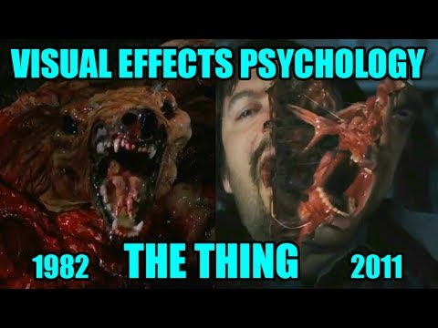 Visual effects psychology: THE THING (1982 vs 2011)