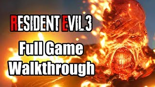 Resident Evil 3 Remake (2020) Gameplay Full Game Walkthrough - Nemesis is Tough! [PS4 Pro]