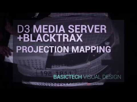 Realtime Tracking Mapping (D3 Media Server & BlackTrax )