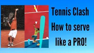 Tennis Clash - How to serve like a PRO! screenshot 3
