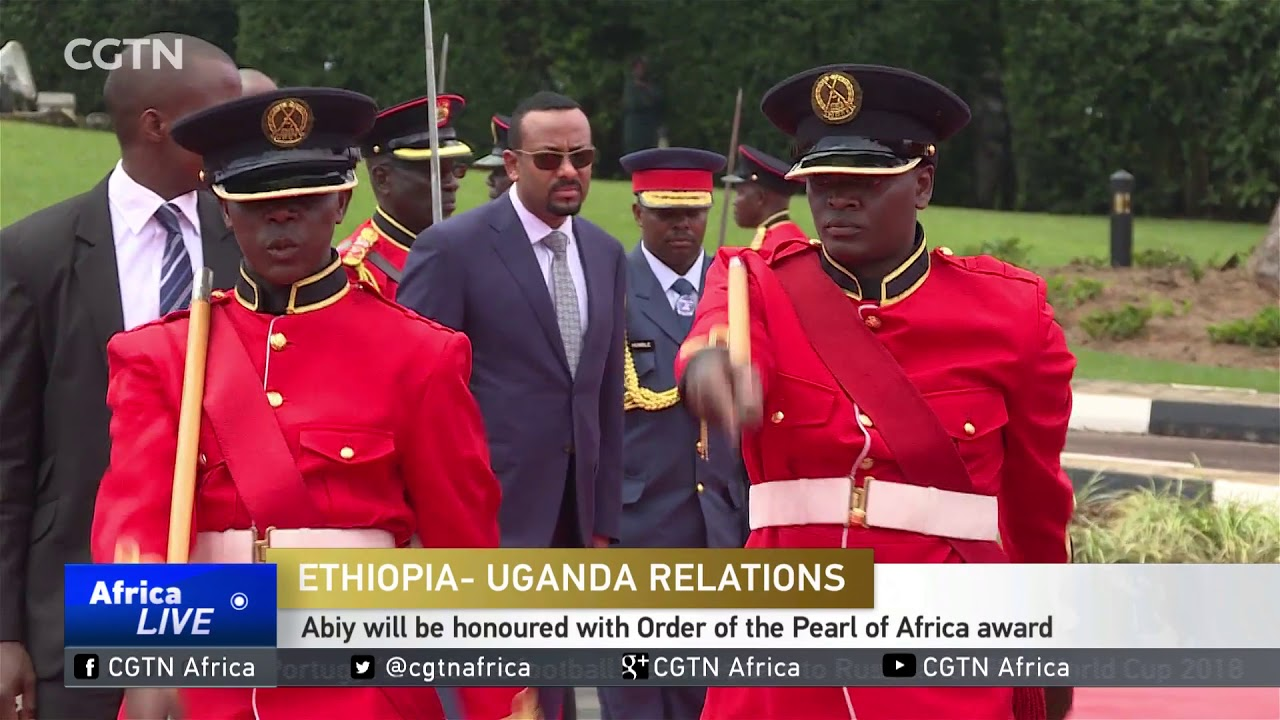Ethiopia's PM Abiy Ahmed Ali in Uganda for state visit