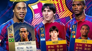 94 PRIME ICON RONALDINHO! THE BEST BARCELONA SQUAD OF ALL TIME?! FIFA 18 ULTIMATE TEAM