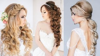 Hey there brides-to-be! We're always here to share with you the trendiest and the most fashionable ideas that will be relevant to you. If your wedding is coming soon, read on. Most of the brides think that the hunt for the perfect dress is the hardest, but wait till you see when it comes time to choose your hairstyle for the special day. There will be so many of them, and you won't be able to decide which one you like the best. That's why we narrowed the choice only to some of the most gorgeous hairstyle ideas. Check out 15 Best Bridal Hairstyles Ever.  Just stay with us and get inspiration. Have a pretty hair look by copying some of the hairstyle in the video. If you have long hair, you can choose between an up-do or just let the hair down. The romantic curls are some of the best looks. You can even add some accessories such as flowers or other jewelries.  I hope you shine at your magical day!  Music by Dan-O at DanoSongs.com