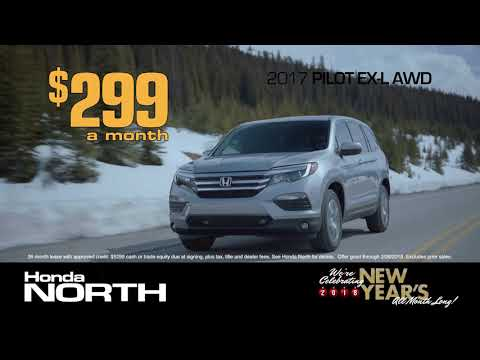 Lease a 2017 Pilot EX-L AWD for $299 a month from Honda North!