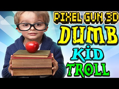 Pixel Gun 3D - Dumb Kid Troll For Unlimited Gems And Coins [PG3D HACK TROLL]