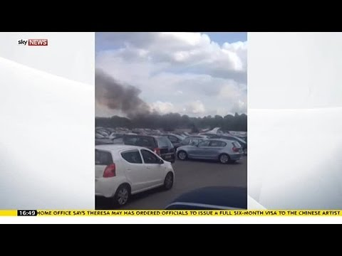 Plane Crashes Into Hampshire Car Auction