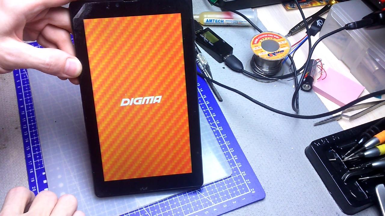 Как отформатировать планшет digma ht7070mg