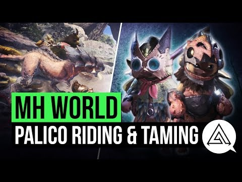 Monster Hunter World | Palico Taming & Riding Explained + New Abilities & Armor
