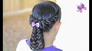 Cola/Coleta de Twist y Trenza de Pluma | Peinados con Trenzas | Peinados para Niñas | Chikas Chic
