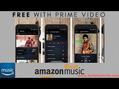 Amazon Music Launched : Free with Amazon Prime ! Download App Now !