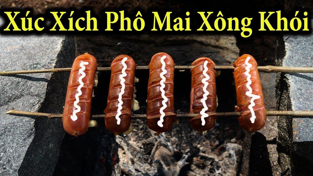 Gấu Vlogs – Xúc Xích Phô Mai Xông Khói (  smoked sausage )