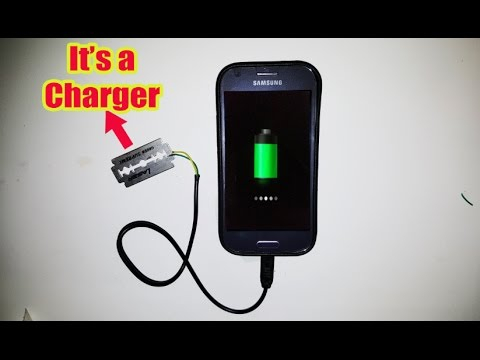 Mobile Charger Making using Blades-Simple Life hack