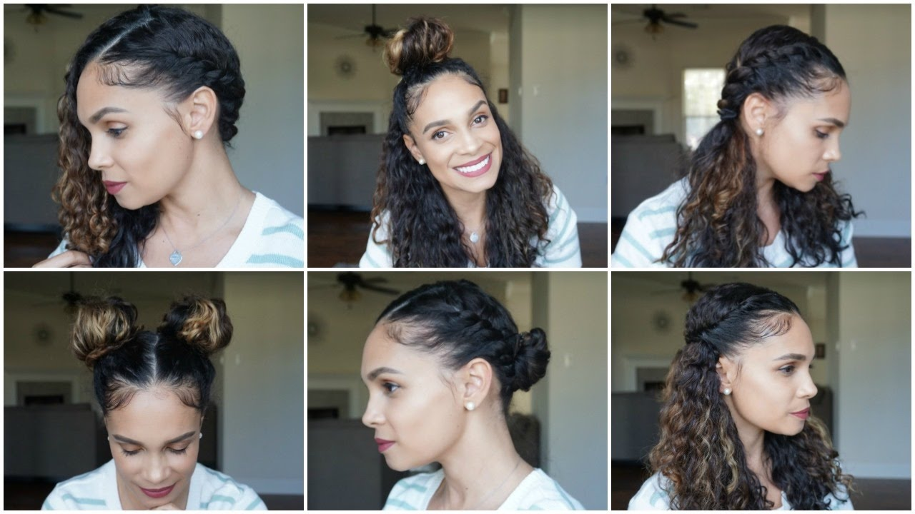 Natural Hair: 6 EASY CURLY Hairstyles PERFECT For SPRING