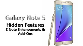 Galaxy Note 5 - Hidden Feature - S Note Enhancements & Add ons