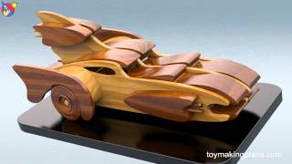 Wood Toy Plans - Build A Bat Car