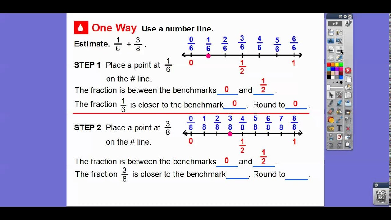medium resolution of Estimate Fraction Sums and Differences - Lesson 6.3 - YouTube