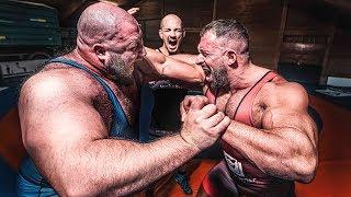 180 KG Strongman vs 120 KG Bodybuilder vs 60 KG Ringer! Eskalation beim Ringen!
