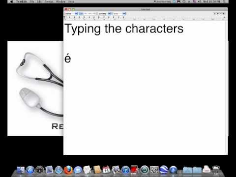 Typing Accented Characters on the Mac