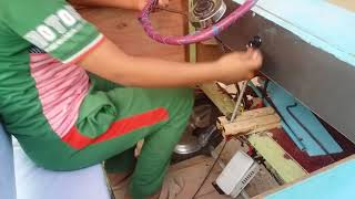 Homemade electrical 24V 350W go kart    سيارة كهربائية صناعة يدوية للأطفال