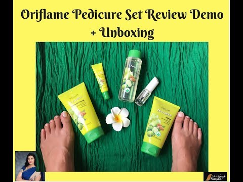 Easy Affordable Pedicure at home || Oriflame Pedicure Set Unboxing Review And Demonstration
