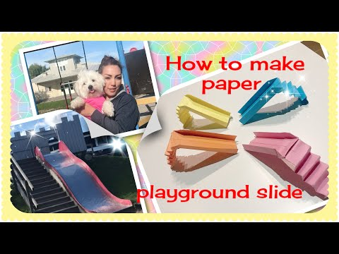 "How to make paper ""playground slide ""(easy) origami ."