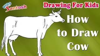 How to draw Crow || Drawing For Kids || In English