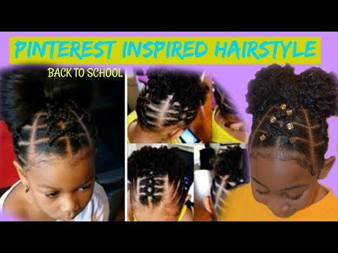 Pinterest Inspired Hairstyle: Kids Back To School Natural Hairstyle