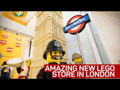 London's first Lego store is the biggest in the world - YouTube