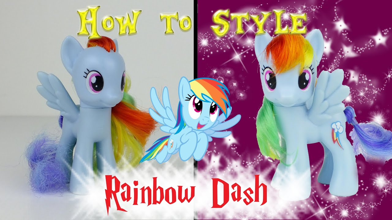 rainbow dash hair style mlp rainbow dash hair styling tutorial my pony 6341