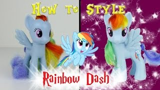MLP Rainbow Dash Hair Styling Tutorial -- MLP Custom