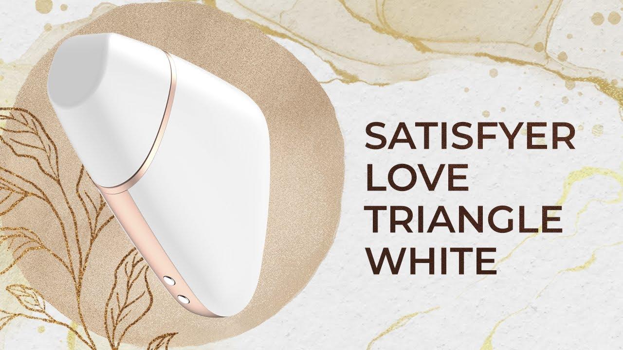 Вакуумный клиторальный стимулятор Satisfyer Love Triangle White