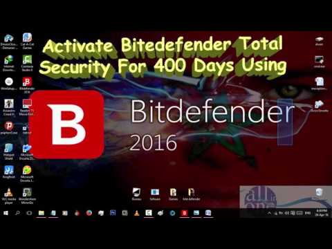 ACTIVATE BITDEFENDER TOTAL SECURITY FOR 400 DAYS USING