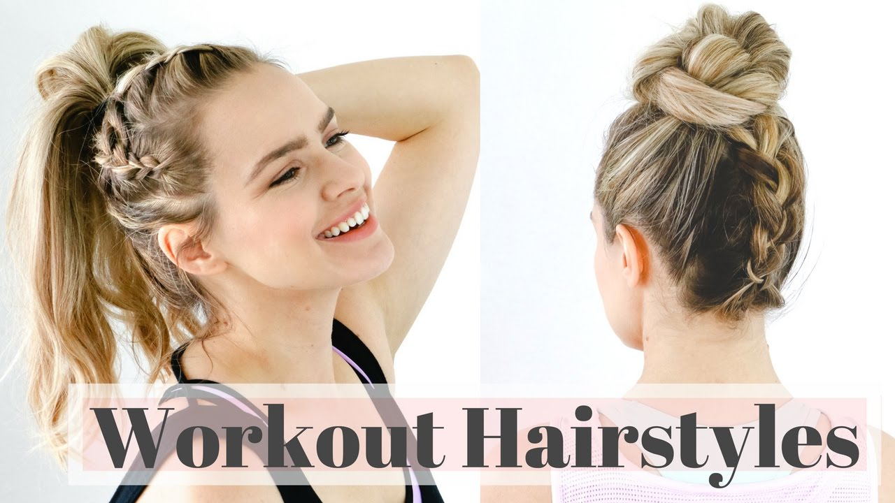 3 workout hairstyles for the gym - easy hair tutorial!