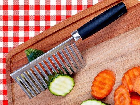 Волнистый нож для фигурной нарезки овощей и фруктов